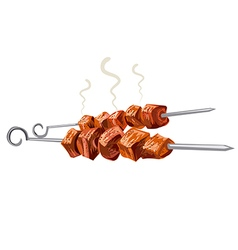 meat kebab grilled vector image vector image