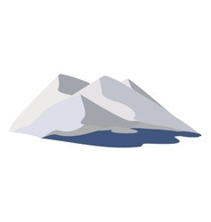 Mountains and the sea vector