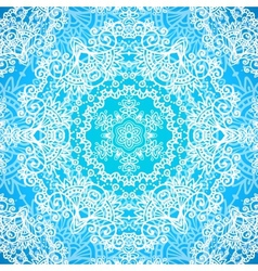 Ornate blue doodle seamless pattern vector