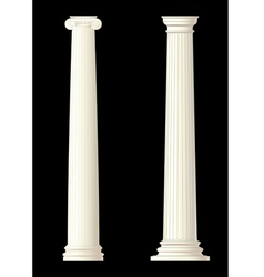 set of 2 columns vector image vector image