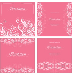 Set of floral card vector image vector image