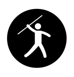 silhouette of athlete practicing javelin throw vector image vector image