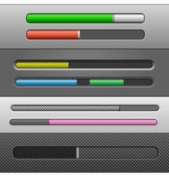 slider bars vector image