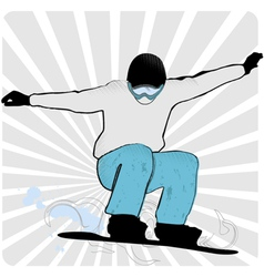 snowboard skiers vector image vector image