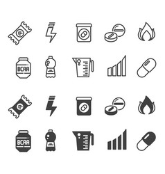 sport supplements power protein and vitamin vector image vector image