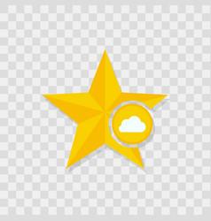 Star icon cloud icon vector