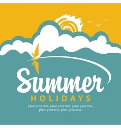 summer banner with sea vector image vector image