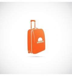 Travel Suitcase Symbol Icon vector image vector image