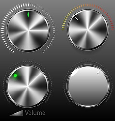 Volume buttons vector image