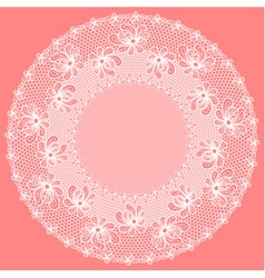 Decorative flower lacy frame vector