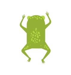 Frog Running Away Turning Its Back Flat Cartoon vector image