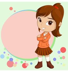 chibi girl vector image