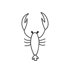 Doodle lobster animal icon vector