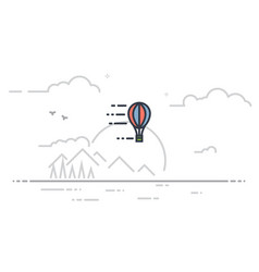 Airballoon line vector
