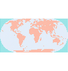 Square dotted world map vector
