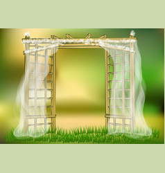 Wedding garden vector