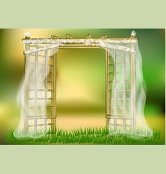 wedding garden vector image