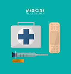 Medical and health care design vector