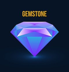 Gemstone isolated on dark background vector
