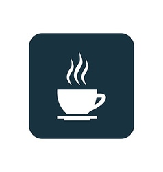 Cap of tea icon rounded squares button vector