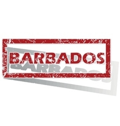 Barbados outlined stamp vector
