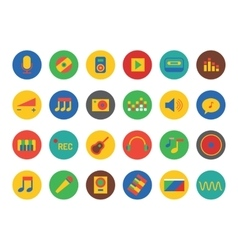 Music Icons Set Sound tools or Dj and vector image