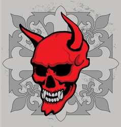 Cross skull vector