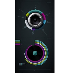infographic music elements vector image