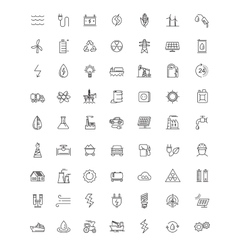 Flat energy icons vector