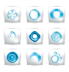 abstract water and circle bubbles vector image