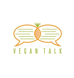 Design template of healthy food talk concept vector