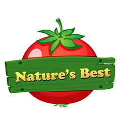 A wooden board with a natures best label vector image vector image
