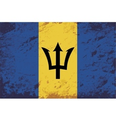 Barbados flag grunge background vector