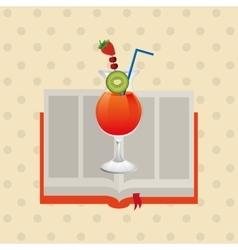 Cocktail recipe design vector