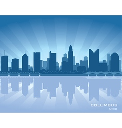 Columbus ohio skyline vector