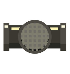 Drainage system icon flat style vector