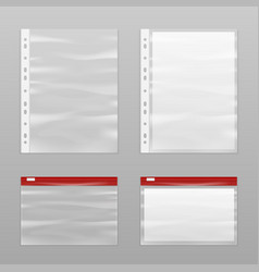 Full paper and empty plastic bags icon set vector