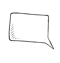 hand drawn doodle of a speech bubble vector image vector image
