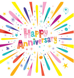 happy anniversary greeting card vector image vector image