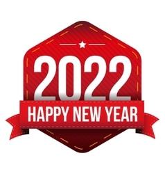 Happy New Year 2022 vector image vector image