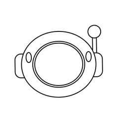 helmet astronaut space outline vector image vector image
