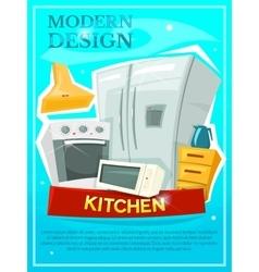Kitchen modern design vector image vector image