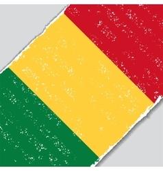 Malian grunge flag vector image vector image