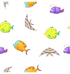 Marine fish pattern cartoon style vector