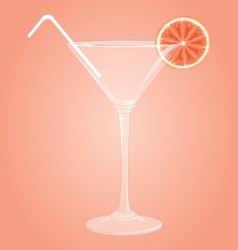 Martini glass with grapefruit vector