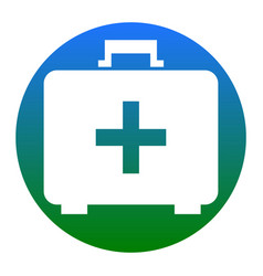 Medical first aid box sign white icon in vector