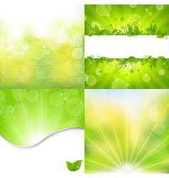 Nature backgrounds set vector