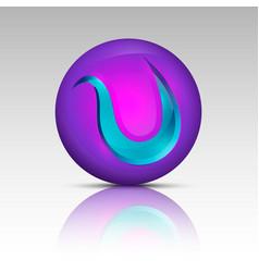 purple colored circle logo vector image vector image