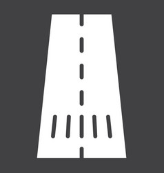road glyph icon asphalt and traffic way sign vector image