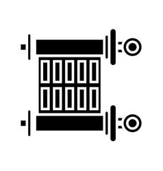 Scroll - torah icon black vector